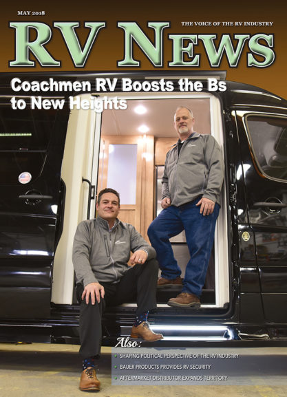 RV News Magazine May 2018 Front Cover