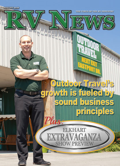 RV News Magazine August 2018 Front Cover