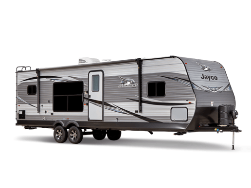 A photo of the 2020 Jayco Jay Flight in front of a white background
