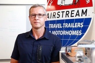 A photo of Airstream President and CEO Bob Wheeler