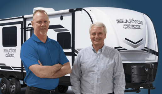 Photo of Jim Jacobs and Kent Yoder of Braxton Creek RV