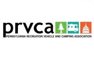 a picture of the logo for the Pennsylvania Recreation Vehicle and Camping Association's (PRVCA)