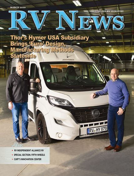 Cover of RV News magazine March 2020 issue