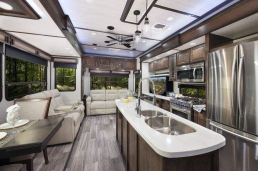 An image of the new Dutchmen Yukon interior