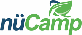 A logo for nuCamp