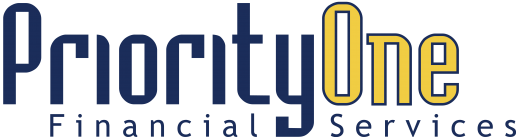 A logo for Priority One Financial Services
