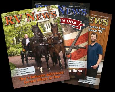 RV News magazine spread